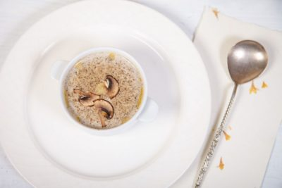 Крем суп из белых грибов и шампиньонов